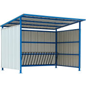 Global Industrial™ Bike Storage Shelter, 16 Bike Cap., Slant Roof, 120Lx95-1/2Wx90-1/16H