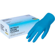 Exam Rated Nitrile Disposable Gloves, 4 MIL, Blue,  X-Large, 100/Box - Pkg Qty 10
