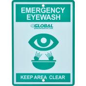Global Industrial™ Emergency Eyewash Station Sign, Replacement