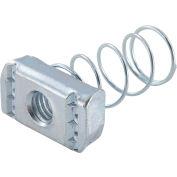 "Global Industrial 1-5/8"" Channel Nut P1008eg, Electro-Galvanized, 3/8-16 - Pkg Qty 25"