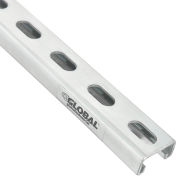 Global Industrial™ 8' Slotted Strut Channel QTY 4, 1-5/8x7/8, 12 GA, Pre-Galvanized Zinc Plated - Pkg Qty 4