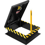 Yellow Powder Coated Steel Ladder Safety Post