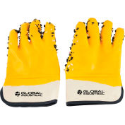 Global Industrial™ PVC Chip Safety Gloves, Yellow