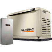 Generac® 7174 - 13/13 kW 120/240V 1 Phase Air-Cooled Standby Generator, NG/LP, Aluminum Enclosure
