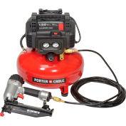 Porter Cable® PCFP72671 Finish Nailer Compressor Combo, 6 Gallon, 150 PSI, 3.25 CFM, 120V