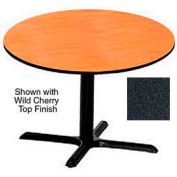 Round 42 Inch Laminate Top Table Graphite