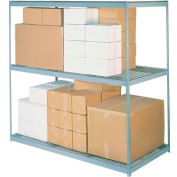 Global Industrial™ Wide Span Rack 96Wx48Dx96H, 3 Shelves Wire Deck 800 Lb Cap. Per Level, Gray