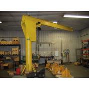 Abell-Howe® Heavy Duty Floor Crane 4B0373 2000 Lb. Cap. 16' Span 10' Under Beam Height