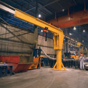 Abell-Howe® Heavy Duty Floor Crane 4B0880 6000 Lb. Cap. 16' Span 10' Under Beam Height