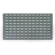 Global Industrial™ Louvered Wall Panel Without Bins 18x19 Gray - Pkg Qty 4