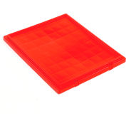 Global Industrial™ Lid LID191 for Stack and Nest Storage Container SNT190, SNT195, Red - Pkg Qty 6