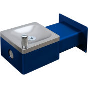 Global Industrial™ Outdoor Wall Mounted Drinking Fountain, Blue
