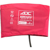 ADC® Bariatric Adcuff™ Reusable Sphyg Cuff, One-Tube, Latex-Free, Burgundy