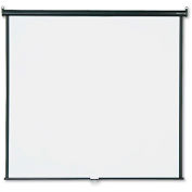 """Quartet® Wall or Ceiling Projection Screen, 70"""" x 70"""", White Matte"""