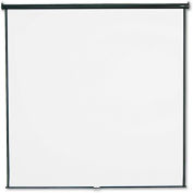 """Quartet® Wall or Ceiling Projection Screen, 96"""" x 96"""", White Matte"""