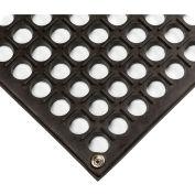 """Wearwell® Modular WorkSafe Light ESD Mat 1/2"""" Thick 3' x 3' Black"""