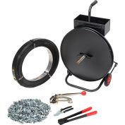 "Global Industrial™ Steel Strapping Kit 1/2"" x 2,940' Coil With Tensioner, Sealer, Seals & Cart"