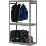 "Global Industrial™ Boltless Luggage Garment Single Rack - 48""W x 24""D x 84""H"