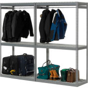 "Global Industrial™ Boltless Luggage Garment Double Rack - 96""W x 24""D x 84""H"