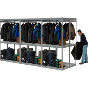 "Global Industrial™ Boltless Luggage Garment Triple Combo Rack - 144""W x 48""D x 84""H"