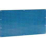 "Global Industrial™ Heavy Duty Steel Pegboard 36"" x 19"" Blue"