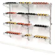 """Wine Bottle Rack - Wall Mount 72 Bottle 72"""" x 14"""" x 54"""""""