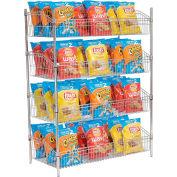 """Nexel® Wire Shelf Basket 36""""W x 18""""D x 63""""H"""