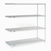 "Nexelate™ Silver Epoxy Wire Shelving Add-On 60""W x 36""D x 63""H"
