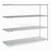 "Nexelate® Silver Epoxy Wire Shelving Add-On 72""W x 36""D x 63""H"