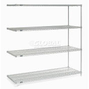 "Nexelate® Silver Epoxy Wire Shelving Add-On 72""W x 36""D x 74""H"