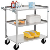Global Industrial™ Stainless Steel Utility Cart 27 x 16 x 32 300 Lb Cap