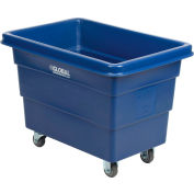 Global Industrial™ Plastic Bulk Box Truck, 6 Bushel, Blue