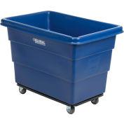 Global Industrial™ Plastic Bulk Box Truck, 8 Bushel, Steel Chassis Base, Blue