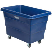 Global Industrial™ Plastic Bulk Box Truck, 8 Bushel, Blue
