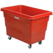 Global Industrial™ Plastic Bulk Box Truck, 8 Bushel, direct mount base Red