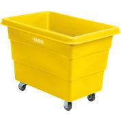Global Industrial™ Plastic Bulk Box Truck, 8 Bushel, direct mount base Yellow