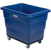 Global Industrial™ Plastic Bulk Box Truck, 12 Bushel, Steel Chassis Base, Blue