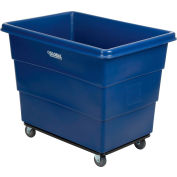 Global Industrial™ Plastic Bulk Box Truck, 16 Bushel, Steel Chassis Base, Blue