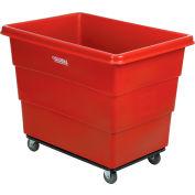 Global Industrial™ Plastic Bulk Box Truck, 16 Bushel, Steel Chassis Base Red