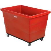 Global Industrial™ Plastic Bulk Box Truck, 20 Bushel, Steel chassis Base Red