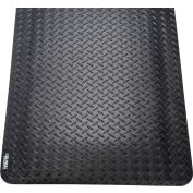 "Global Industrial™ Diamond Plate Ergonomic Mat 15/16"" Thick 48""x72"" Black"