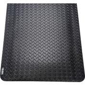 "Global Industrial™ Diamond Plate Ergonomic Mat 15/16"" Thick 2' x 3' Black"