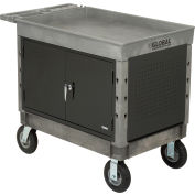 "Global Industrial™ Extra Strength Plastic Mobile Work Center Tray Top 44x25-1/2 Gray 8"" Casters"