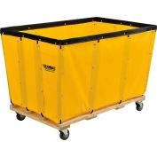 Global Industrial™ KD, 24 Bushel, Yellow Vinyl Basket Bulk Truck