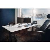 "Interion® Electric Standing Desk - 60""W x 30""D - White w/ Black Base"