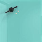 Mosaic Magnetic Glass Markerboard - Aqua - 16X16 in.