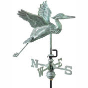 Good Directions Blue Heron Garden Weathervane, Blue Verde Copper w/Garden Pole