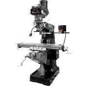 JET® 894125 ETM-949 Mill,3-Axis ACU-RITE 203 (Knee) DRO,X-Axis JET Powerfeed,USA Pwrd Draw Bar