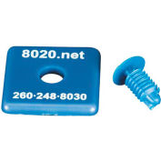 "80/20® 2015BLU 1010 End Cap, 1"" x 1"" x 1/8"", Blue"