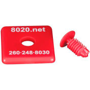 """80/20® 2015RED 1010 End Cap, 1"""" x 1"""" x 1/8"""", Red"""